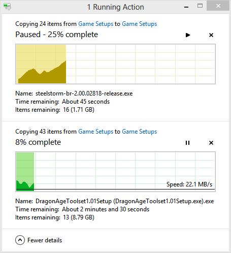 Windows 8 File Copy dialog