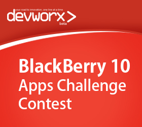 devworx announces the BlackBerry 10 Apps Challenge contest
