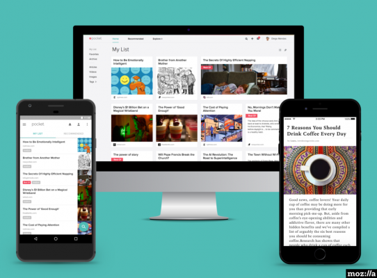 Mozilla takes over bookmarking service Pocket