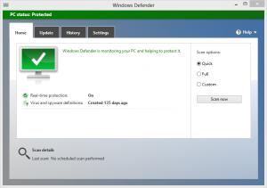 Windows Defender on Windows 8
