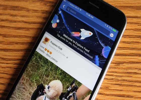 "Facebook's new ""Explore Feed"" makes its way to the app's main navigation"