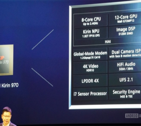 Huawei announces the Kirin 970 – new flagship SoC with AI capabilities