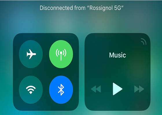 Bluetooth and Wi-Fi Aren't Fully Disabled When Toggled Off in Control Center on iOS 11